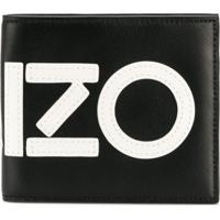 Kenzo Carteira De Couro Com Logo - Preto