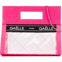 Gaelle Paris Kids Bolsa Transparente Com Logo - Rosa