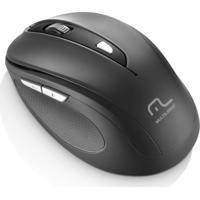Mouse Sem Fio 1600Dpi Usb 6 Botões Preto Multilaser - Mo237