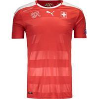 Camisa Puma Suíça Home 2016 Eliminatórias Fifa Masculina - Masculino
