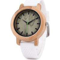 Relógio Madeira Dododeer-B11 Branco