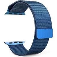 Pulseira Bestchoice Milanese Para Apple Watch 42Mm / 44Mm Azul