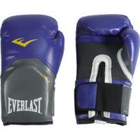 c048c7f0f Luvas De Boxe Everlast Pro Style 16 Oz - Azul Branco