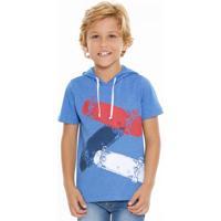 Camiseta Infantil Capuz Estampa Skate Marisa