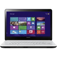 "Notebook Sony Fit 14 E Svf14213Cbw - Branco - Intel Core I5-3337U - Touchscreen - Ram 4Gb - Hd 750Gb - Tela 14"" - Windows 8"
