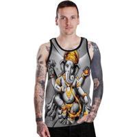 Regata Stompy Gold Ganesha Masculina - Masculino-Preto