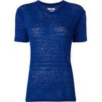 Isabel Marant Étoile Striped T-Shirt - Azul