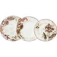 Aparelho De Jantar Porcelana 18 Peças Gabrielle - Unissex