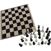 Jogo De Tabuleiro Xadrez 32 Peças Pangué - Unissex-Incolor