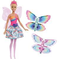 Boneca Barbie Dreamtopia Fada Asas Voadoras Frb08 Mattel Rosa