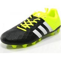 Chuteira Adidas Ace 15.4 Campo Pto/Bco/Lim - Adidas