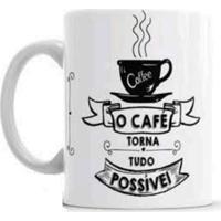 Caneca S De Cerâmica Sude Café Torna Tudo Possível Branca