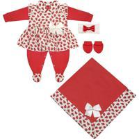 Saída Maternidade Padroeira Baby Joaninha Luxo Vermelho