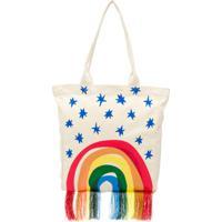 Stella Mccartney Kids Bolsa Tote Com Estampa De Arco-Íris - Branco