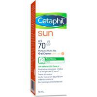 Protetor Solar Cetaphil Sun Gel Creme Com Cor Fps70 50Ml