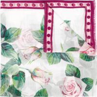 Dolce & Gabbana Rose Print Scarf - Rosa