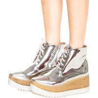 Bota Dafiti Shoes Cano Médio Prata