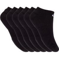 Kit De Meias Nike Everyday Cush Com 6 Pares - 39 A 42 - Masculino - Preto