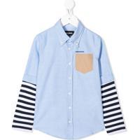 Dsquared2 Kids Camisa Com Duas Camadas - Azul