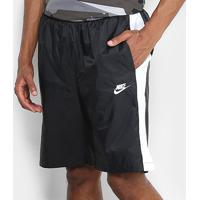 Bermuda Nike Wvn Core Trk Masculina - Masculino-Preto+Branco
