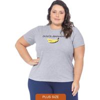 T-Shirt Feminina Dolce & Banana Mescla