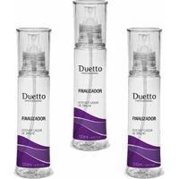 Kit 3 Spray De Brilho Finalizador Duetto Profissional 120Ml - Unissex-Incolor
