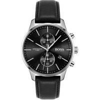 Relógio Hugo Boss Masculino Couro Preto - 1513803