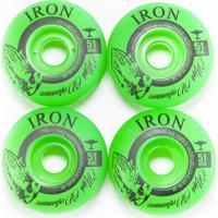 Kit Rodas Iron Street Peace 51Mm Verde