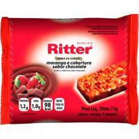 Barra De Cereais Ritter Morango E Cobertura Sabor Chocolate Com 3 Unidades De 25G Cada