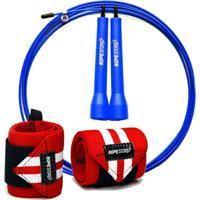 Kit Munhequeira X + Speed Rope Com Rolamento - Unissex