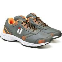 Tênis Masculino Ousy Shoes Training Academia Ultraleve Laranja