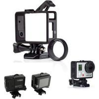 Armação Frame Trava Andfr-301 E Protetor Lente Para Câmeras Gopro Hero 3, 3+, 4 - Unissex
