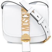 Moschino Logo Lettering Shoulder Bag - Branco