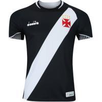 Camisa Do Vasco Da Gama I 2018 Diadora - Torcedor - Preto