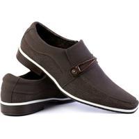 Sapato Social Venetto Thor Confort Masculino - Masculino-Marrom