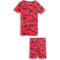 Pijama Gap Curto Menina Carros Vermelho - Vermelho - Menino - Algodã£O - Dafiti