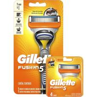 Kit Aparelho De Barbear Gillette Fusion 5 + Carga Gillette Fusion 5 Com 2 Unidades - Tricae