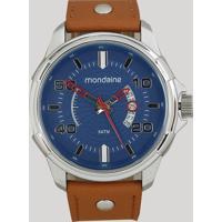 Relógio Analógico Mondaine Masculino - 99336G0Mvnh1 Prateado - Único