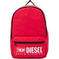 Diesel Kids Mochila Com Logo E Zíper - Vermelho