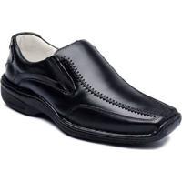 Sapato Casual Masculino Couro De Carneiro Confort Ranster - Masculino-Preto