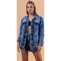Jaqueta Jeans Over Azul