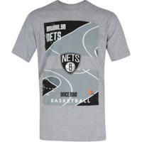 Camiseta Nba Brooklyn Nets Est Court - Masculina - Cinza