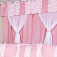 Cortina Dupla Padroeira Baby Delicate - Rosa