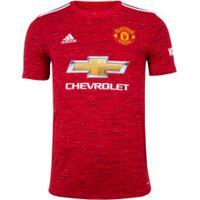 Camisa Manchester United I Adidas 20/21 - Masculina - Vermelho