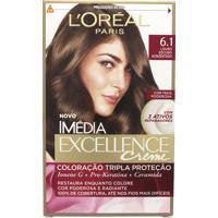 Coloração Imédia Excellence Creme N°6.1 Louro Escuro Acinzentado Imedia 47G