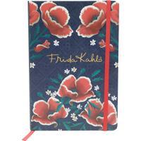 Caderneta De Anotação Red Flowers Preto A5 14,8 X 21 Cm 96Fls Urban