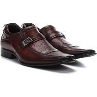 Sapato Social Couro Rafarillo Office Masculino - Masculino-Marrom