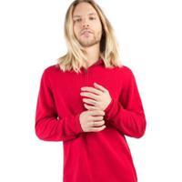 Suéter Zíper Taco Masculino - Masculino-Vermelho
