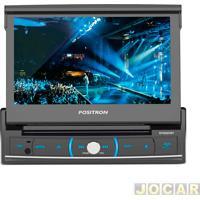 """Dvd Player - Pósitron - Com Tela Lcd De 7"""" Retrátil - Bluetooth, Usb, Mp3, Wma, Mpeg - Cada (Unidade) - Sp6320Bt"""