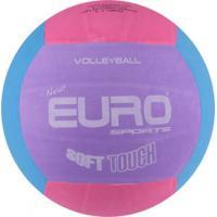 Bola De Vôlei Euro New Soft Touch - Rosa/Roxo